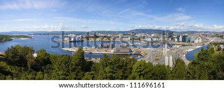 View on Oslo and the harbor - stock photo