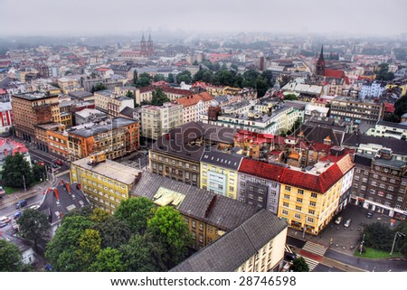 View on Ostrava city in Czech - stock photo