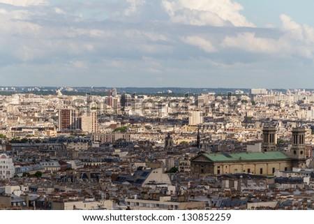 View on Paris - stock photo