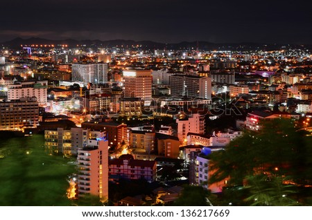 view on Pattaya City, Thailand