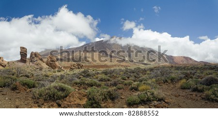 View on peak Teide, Tenerife, Canary Islands