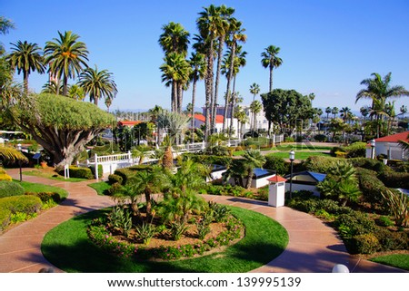 View on promenade in the San Diego - stock photo