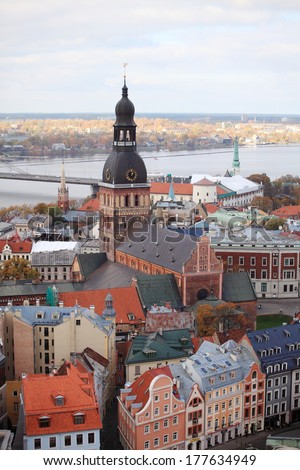 view on Riga, Latvia - stock photo