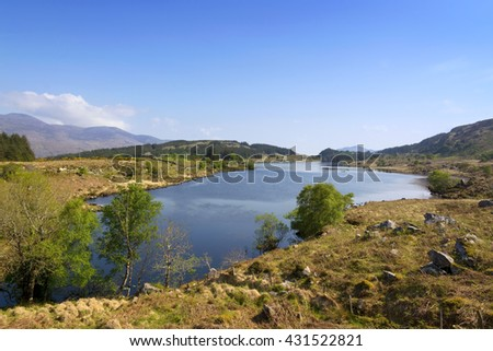 View on Ring of Kerry, Ireland - stock photo