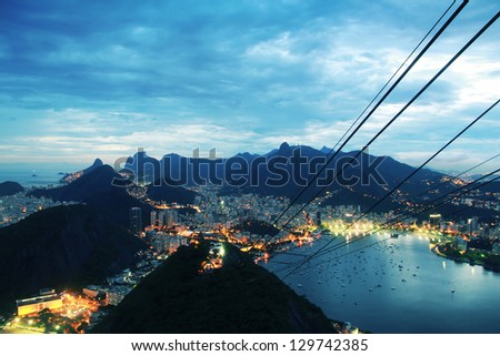 View on Rio de Janeiro from Sugarloaf Mountain