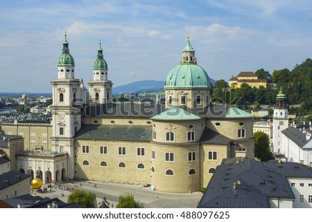View on Salzburg Cathedral (Salzburger Dom), Austria