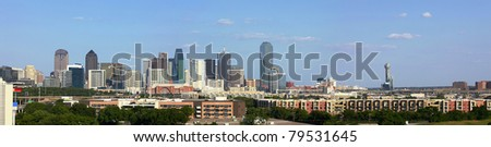 View on Skyline of Downtown Dallas - stock photo
