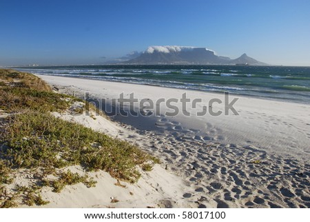 View on Table Mountain, cape Town - stock photo