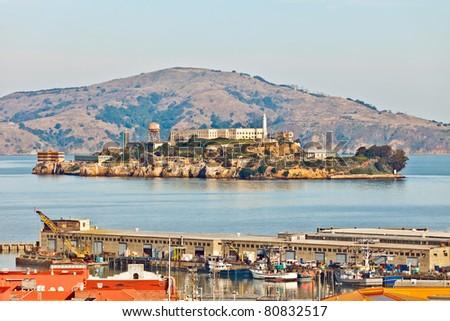View on the Alcatraz Prison, San Francisco - stock photo