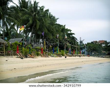 View on the beach, Thailand - stock photo