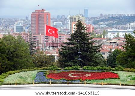 View on the capital city of Turkey Ankara - stock photo