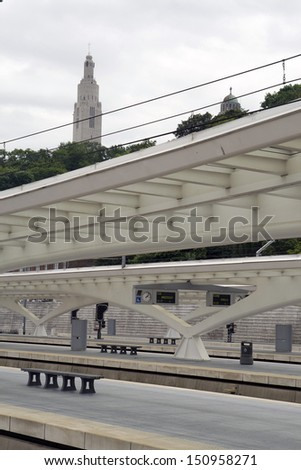 View on the church - stock photo