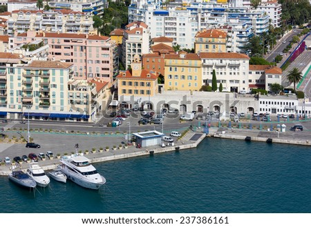 View on the Port Area of Nice, France - stock photo