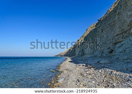 View on the sea coast - stock photo