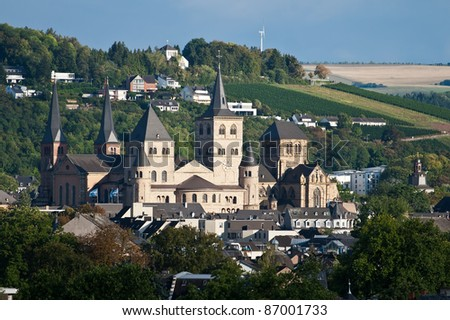 View or the cathedral of Trier, Germany - stock photo