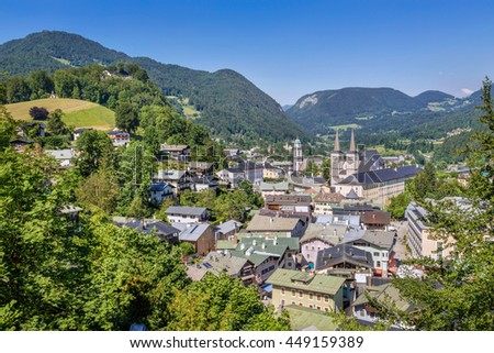 View over Berchtesgaden, Bavaria, Germany