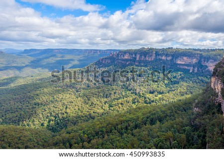 View over blue mountains national park, Australia