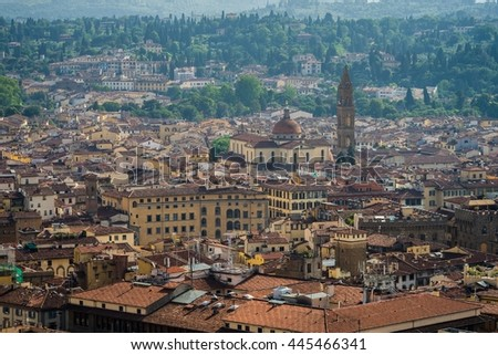 view over florence from cattedrale di Santa Maria del Fiore