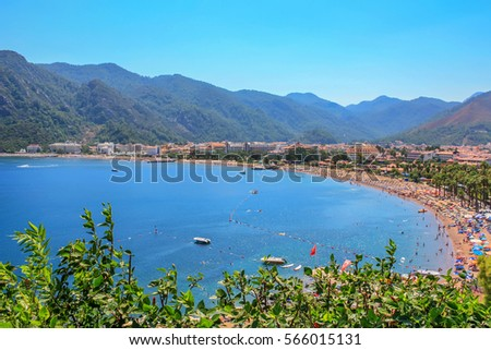 View over Icmeler suburb of Marmaris