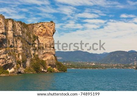 View Over Lake Garda in Italy. Horizontal shot - stock photo
