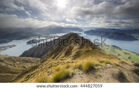 View over Lake Wanaka from Roy's Peak, South Island, New Zealand
