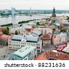 View over Old Town of Riga, Latvia - stock photo