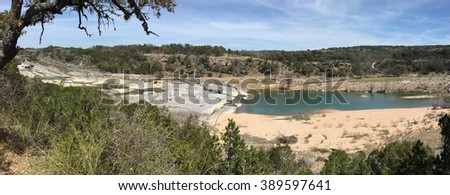 View over Pedernales Falls in Texas - stock photo