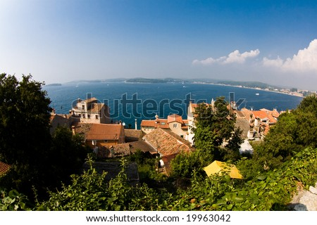 view over rovinj croatia