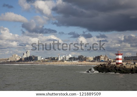 view over scheveningen the netherlands - stock photo