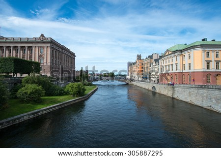 View over Stockholm city in Sweden, Scandinavia - stock photo