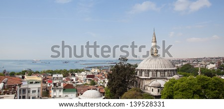 View over Sultanahmet,Istanbul. - stock photo