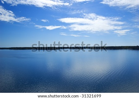 View over swedish archipelago - stock photo