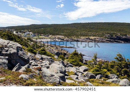 View over the Blackhead Community near St. Johns in Newfoundland.  Part of the East Coast Trail.