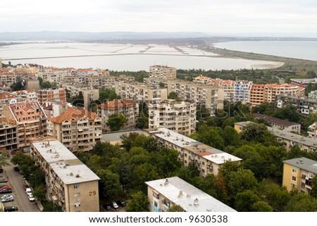 View over the city - Burgas ( Bulgaria ) - stock photo