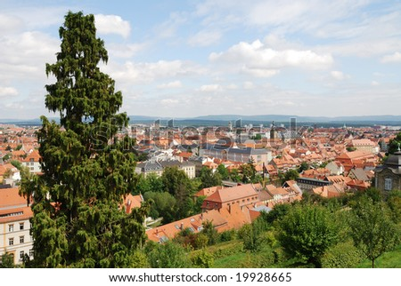 View over the city of Bamberg (Germany, Bavaria)