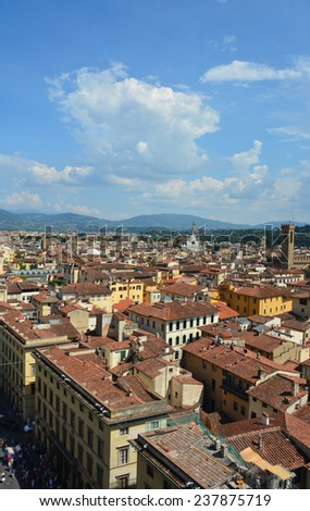 View over the city of florence, Italy