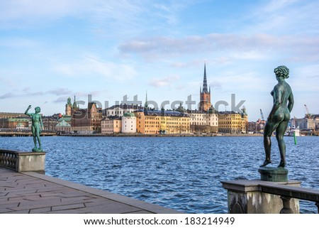 View over the old town (Gamla Stan) in Stockholm, Sweden