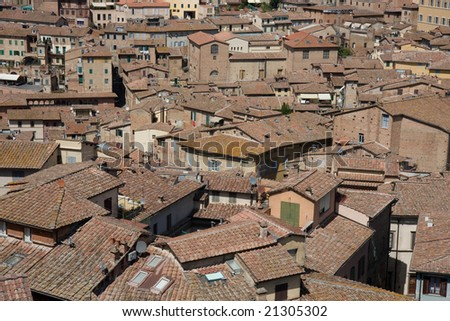 View over the rooftops in Sienna