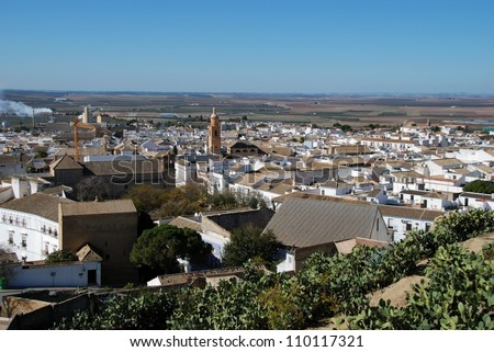 View over the town rooftops, Osuna, Seville Province, Andalucia, Spain, Western Europe.
