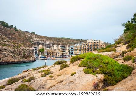 View over Xlendi town, Gozo island, Malta - stock photo