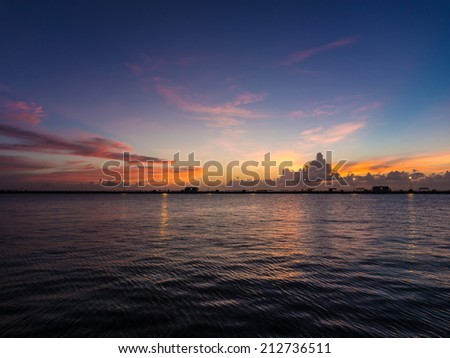 view point at southernmost of USA in Key West, Florida - stock photo