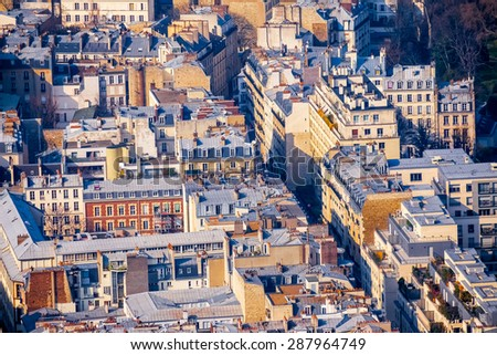 View point from Montparnasse area - stock photo
