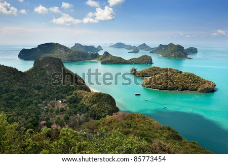 View point of Ang Thong Islands national park ,Thailand - stock photo