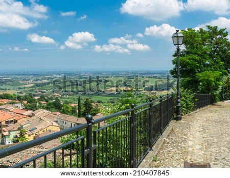 View province Italy, and the Adriatic Sea on the horizon - stock photo