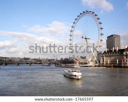 View - River Thames and London Eye