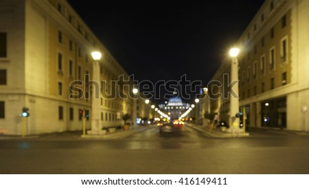View sense of  Rome city, Rome Italy