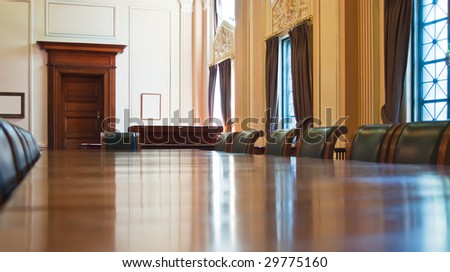 view the classical meeting room - stock photo
