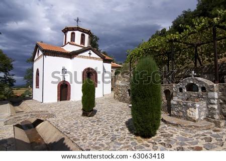 view the old ortodox church(S. Stefan) - Ohrid - Macedonia - stock photo