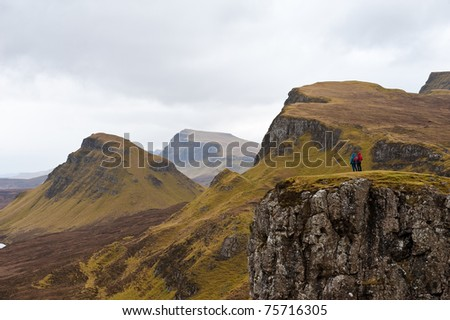 View the Quairing mountains - stock photo