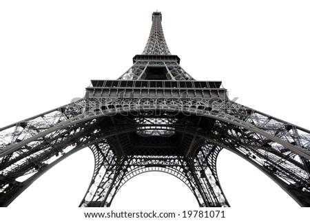 View the Tour d'Eiffel in Paris - stock photo